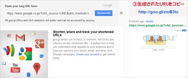 URLの短縮